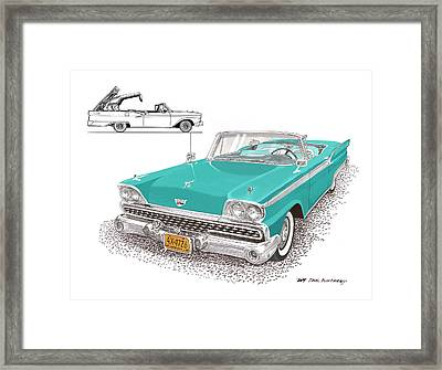 1959 Ford 500 Fairlane Retractable Hard Top Framed Print by Jack Pumphrey