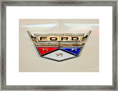 1959 Ford Ranchero Emblem -1095c Framed Print by Jill Reger