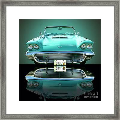 1959 Ford T Bird Framed Print by Jim Carrell