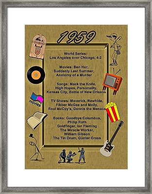 1959 Great Events Framed Print by Movie Poster Prints