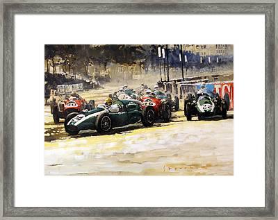 1959 Monaco Gp  #24 Cooper Climax T51 Jack Brabham Winner  Framed Print by Yuriy Shevchuk