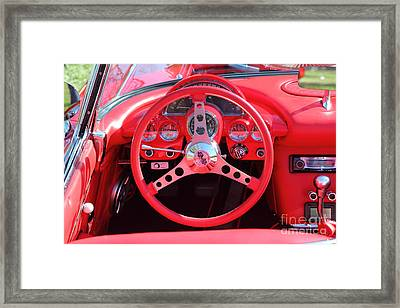 1959 Red Chevrolet Corvette 5d26479 Framed Print by Wingsdomain Art and Photography