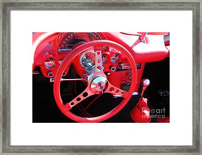 1959 Red Chevrolet Corvette 5d26487 Framed Print by Wingsdomain Art and Photography