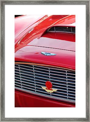 1960 Aston Martin Db4 Grille Emblem Framed Print by Jill Reger