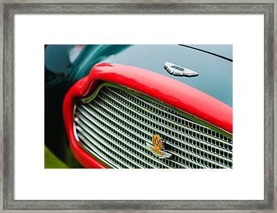 1960 Aston Martin Db4 Gt Coupe' Grille Emblem Framed Print by Jill Reger