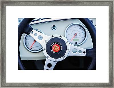 1960 Austin-healey -bugeye  Sprite Mk I Steering Wheel Emblem Framed Print by Jill Reger