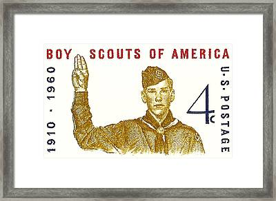 1960 Boy Scouts Of America Postage Stamp Framed Print by David Patterson
