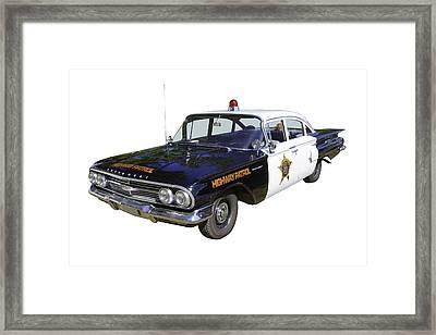 1960 Chevrolet Biscayne Police Car Framed Print by Keith Webber Jr