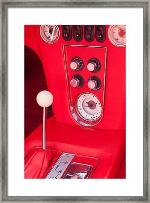 1960 Chevrolet Corvette Control Panel Framed Print by Jill Reger