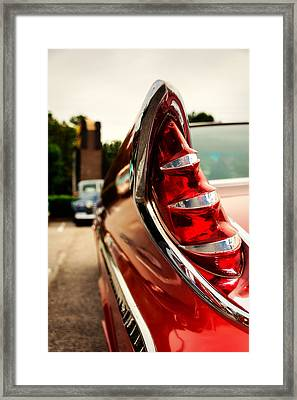 1960 Desoto Fireflite Coupe Tailfin Framed Print by Jon Woodhams