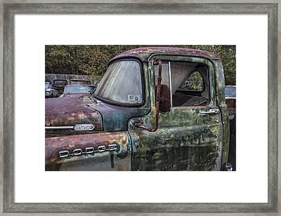 1960 Dodge 100 Framed Print by Debra and Dave Vanderlaan