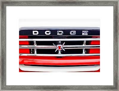 1960 Dodge Truck Grille Emblem Framed Print by Jill Reger