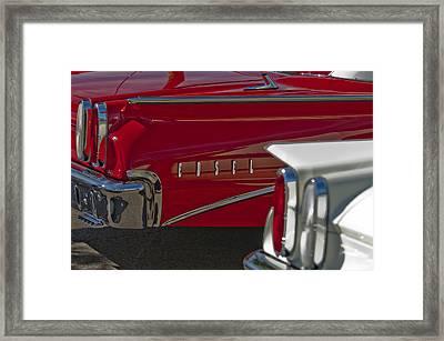 1960 Edsel Taillight Framed Print by Jill Reger