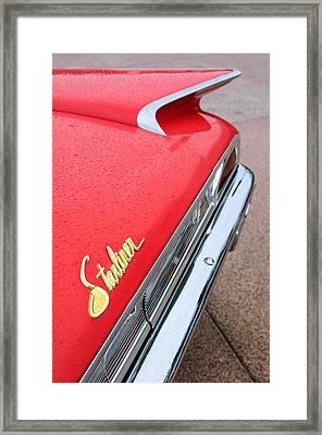 1960 Ford Galaxie Starliner Taillight Emblem Framed Print by Jill Reger