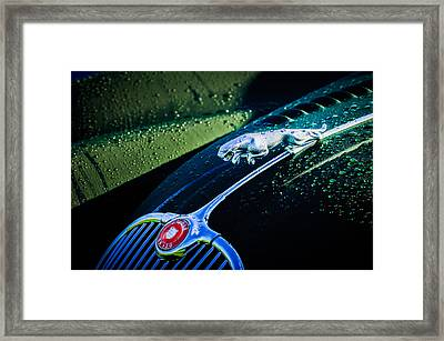 1960 Jaguar Xk 150s Fhc Hood Ornament -0441c Framed Print by Jill Reger