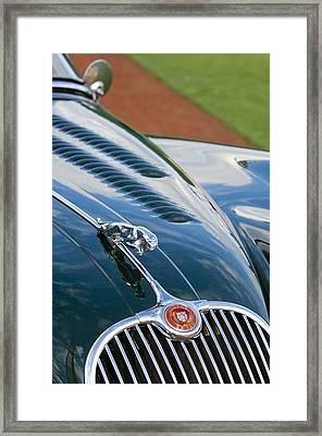 1960 Jaguar Xk 150s Fhc Hood Ornament 3 Framed Print by Jill Reger
