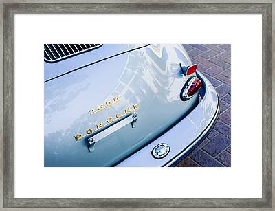1960 Porsche 356 B 1600 Super Roadster Rear Emblem - Taillight Framed Print by Jill Reger
