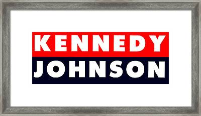 1960 Vote Kennedy Johnson Framed Print by Historic Image
