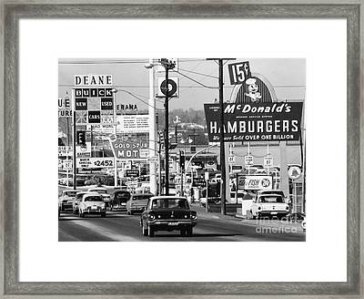 1960s Denver Scene Framed Print by Myron Wood