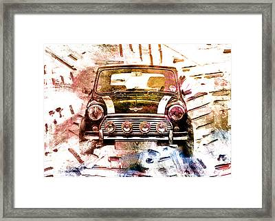 1960s Mini Cooper Framed Print by David Ridley