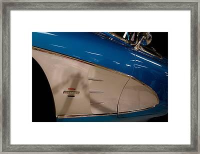 1961 Chevrolet Corvette V Framed Print by David Patterson