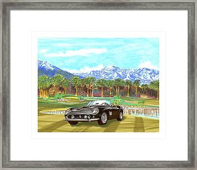 1961 Ferrari G T 250 Indian Wells  Golf Framed Print by Jack Pumphrey