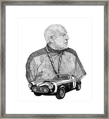 Sir Stirling Moss 1961 Ferrari Gt 250 Framed Print by Jack Pumphrey