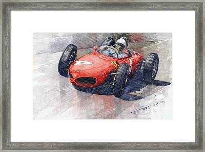 1961 Germany Gp Ferrari 156 Phil Hill Framed Print by Yuriy Shevchuk