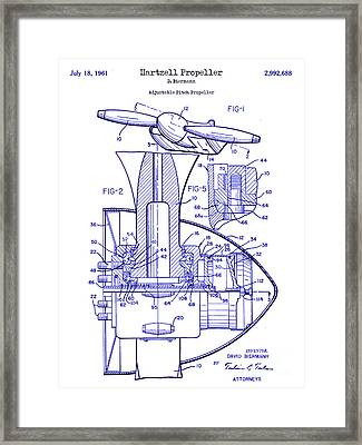 1961 Hartzell Propeller Blueprint Framed Print by Jon Neidert