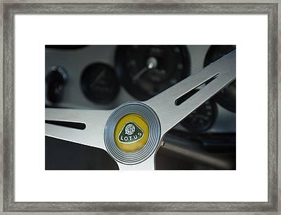 1961 Lotus Elite Series II Coupe Steering Wheel Emblem Framed Print by Jill Reger