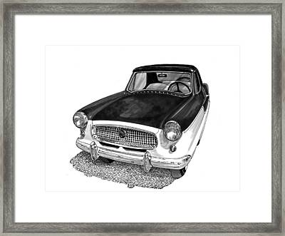 1961 Nash Metro In Black White Framed Print by Jack Pumphrey