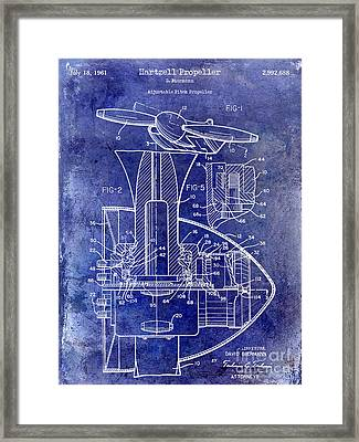1961 Propeller Patent Blueprint Framed Print by Jon Neidert