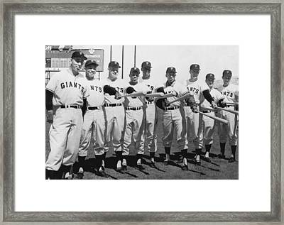1961 San Francisco Giants Framed Print by Underwood Archives