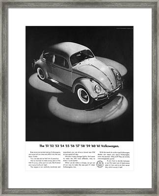 1961 Volkswagen Beetle Framed Print by Digital Repro Depot