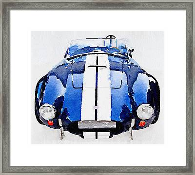 1962 Ac Cobra Shelby Watercolor Framed Print by Naxart Studio