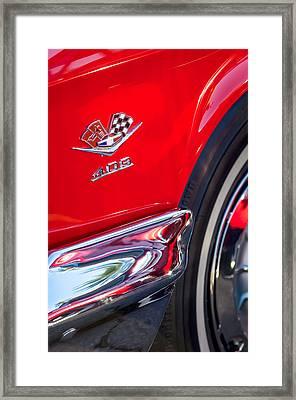 1962 Chevrolet Impala Ss 409 Emblem Framed Print by Jill Reger