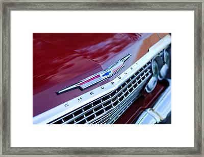 1962 Chevrolet Impala Ss Grille Framed Print by Jill Reger