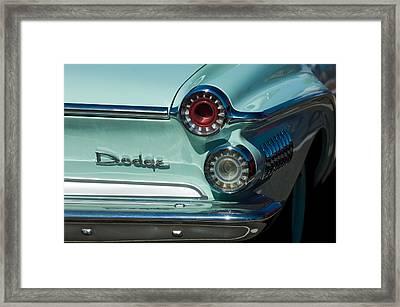 1962 Dodge Dart Taillight Framed Print by Jill Reger