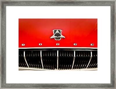 1962 Dodge Polara 500 Emblem Framed Print by Jill Reger