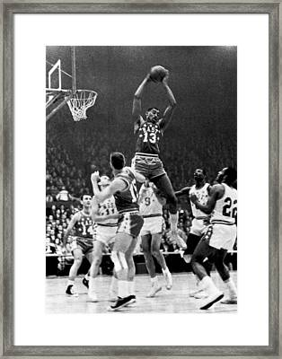 1962 Nba All-star Game Framed Print by Underwood Archives