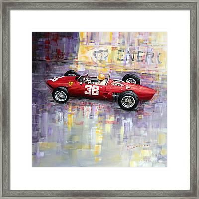 1962 Ricardo Rodriguez Ferrari 156 Framed Print by Yuriy Shevchuk