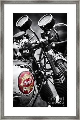 1963 Bsa Rocket Goldstar Framed Print by Tim Gainey