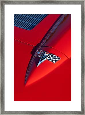 1963 Chevrolet Corvette Hood Emblem Framed Print by Jill Reger