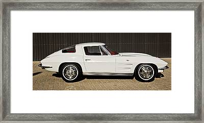 1963 Chevrolet Corvette Split Window -575c Framed Print by Jill Reger