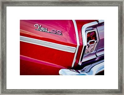 1963 Chevrolet Nova Convertible Taillight Emblem Framed Print by Jill Reger