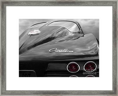 1963 Corevtte Stingray Framed Print by Dennis Hedberg