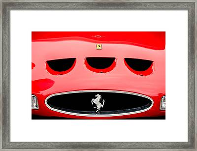 1963 Ferrari 250 Gto Grille Emblem -1753c Framed Print by Jill Reger