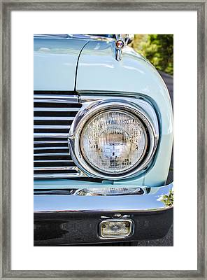 1963 Ford Falcon Futura Convertible Headlight - Hood Ornament Framed Print by Jill Reger