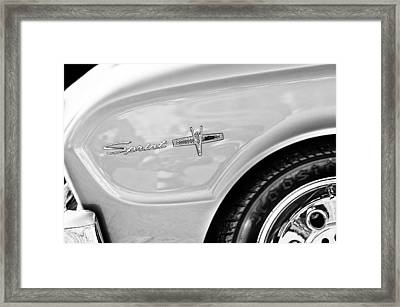 1963 Ford Falcon Sprint Side Emblem Framed Print by Jill Reger