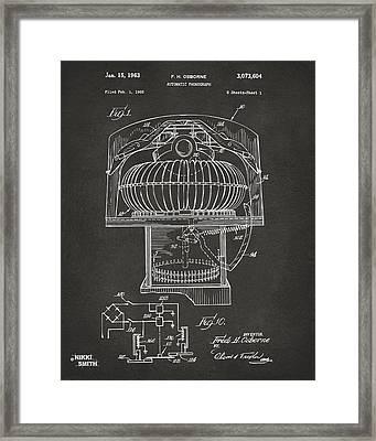 1963 Jukebox Patent Artwork - Gray Framed Print by Nikki Marie Smith